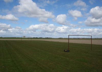 Sportveld met doelen