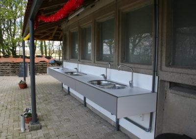 Wasplaats voor afwas en groente